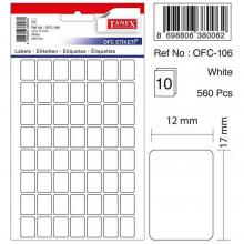 TANEX Office labels for handwriting Set 60Pcs OFC106