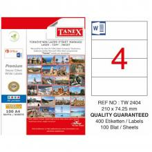 TANEX Folder backing labels colored TW2404